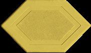 Брусчатка мозаика 6-угольник желтый 45 мм