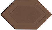 Брусчатка мозаика 6-угольник коричневый 45 мм