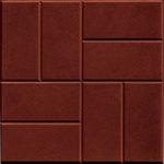 Тротуарная плитка 8 кирпичей коричневая 30 мм