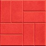 Тротуарная плитка 8 кирпичей красная 30 мм