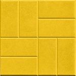 Тротуарная плитка 8 кирпичей желтая 30 мм