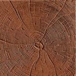 Тротуарная плитка Срез дерева коричневая 30 мм