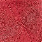 Тротуарная плитка Срез дерева красная 30 мм