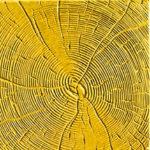 Тротуарная плитка Срез дерева желтая 30 мм