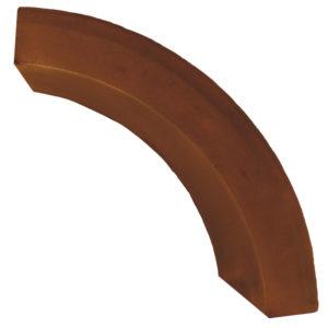 Бордюр садовый радиусный коричневый