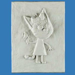 Декоративное гипсовое панно Три Кота