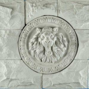 Декоративное гипсовое панно Лев