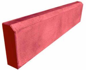 Бордюр садовый метровый красный