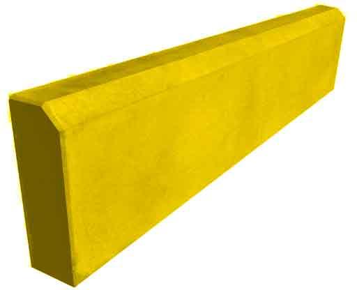 Бордюр садовый метровый желтый