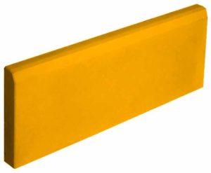 Бордюр садовый тонкий желтый