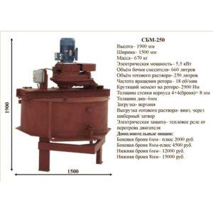 Бетоносмеситель СБМ-250
