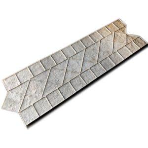 """Форма для печатного бетона """"Бордюр венецианский алмаз"""""""