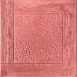 Тротуарная плитка Черноморская, 30 мм красная