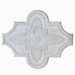 Брусчатка Клевер-цветок серая