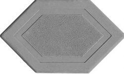 Брусчатка мозаика 6-угольник серый 45 мм